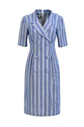 Đầm cổ đan-tông phối nút KK88-29
