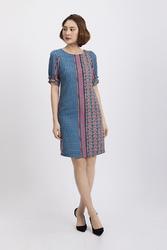 Đầm suông họa tiết nhiều màu KK89-01