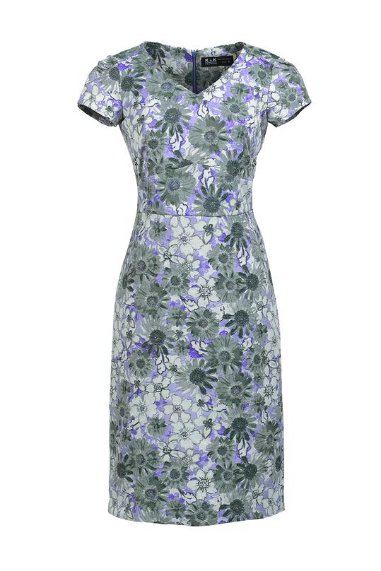 Đầm hoa ôm body cổ V KK89-06