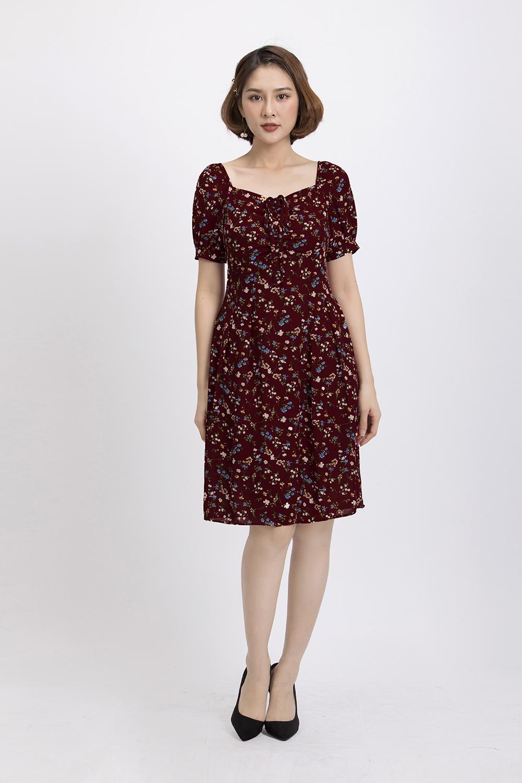 Đầm xòe họa tiết hoa nhí KK84-08
