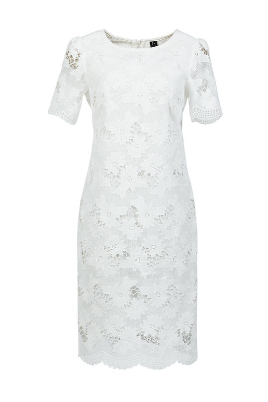 Đầm ren trắng dáng suông HL07-33