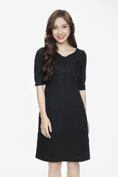 Đầm suông phối nút tay cut-out KK88-18