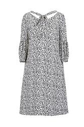 Đầm suông chấm bi tay lửng KK89-27