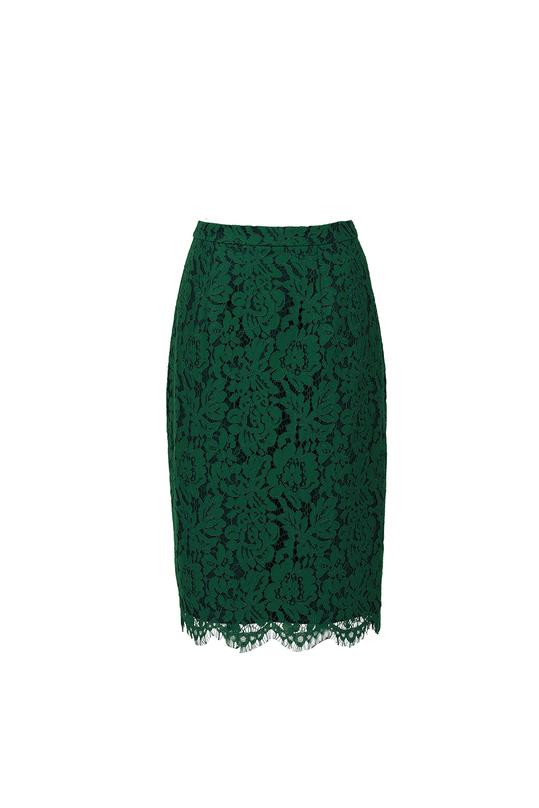 Chân váy bút chì ren cotton CV01-23