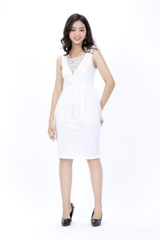 Đầm peplum trắng đi tiệc KK78-12