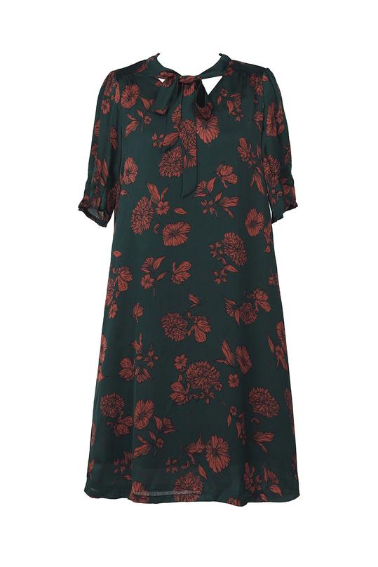 Đầm hoa suông cột nơ KK90-24