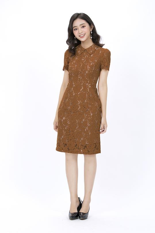 Đầm ren ôm body cổ peter pan KK88-14