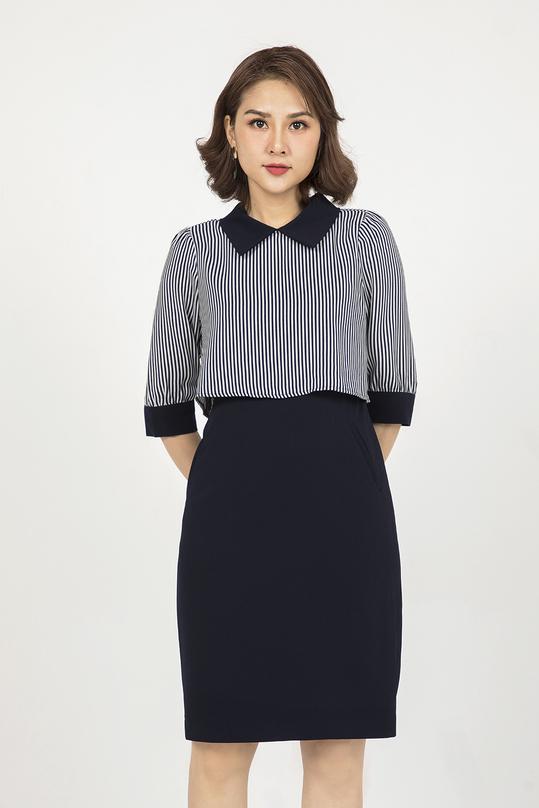 Đầm liền thân giả áo KK90-26