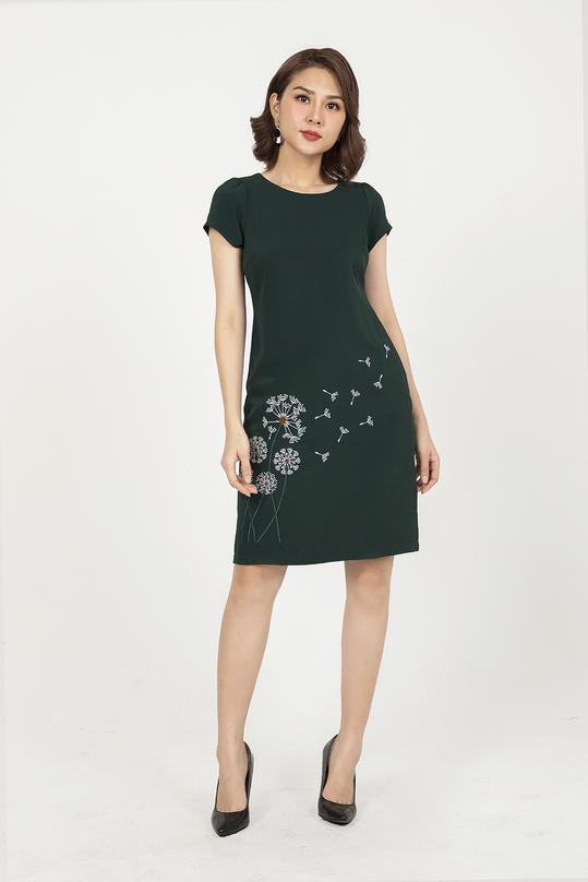 Đầm suông thêu hoa KK91-11