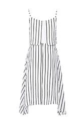 Đầm hai dây kẻ sọc vạt bất đối xứng KK91-15