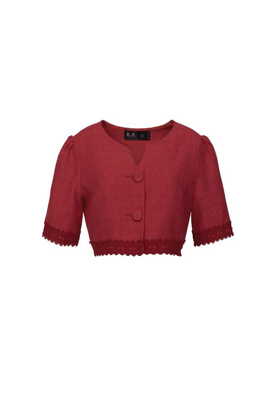 Đầm xòe phối áo khoác lửng