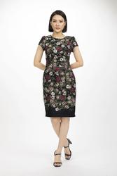 Đầm ôm nhẹ họa tiết hoa