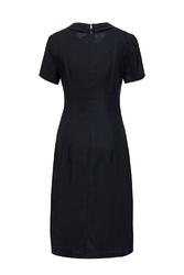Đầm chữ A cổ sen phối vạt áo bất đối xứng