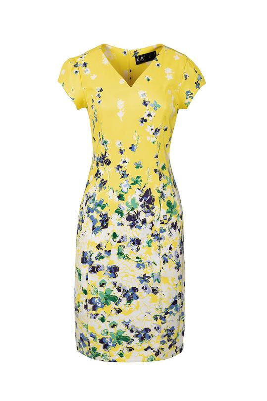 Đầm ôm body cổ tim họa tiết hoa