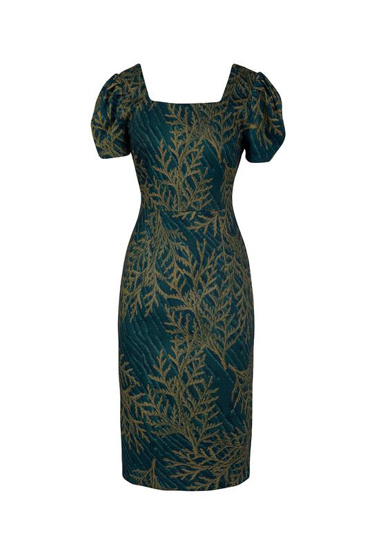 Đầm ôm nhẹ cổ vuông