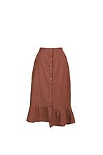 Set áo hai dây và chân váy midi bất đối xứng