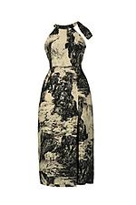 Đầm maxi cổ yếm xẻ tà