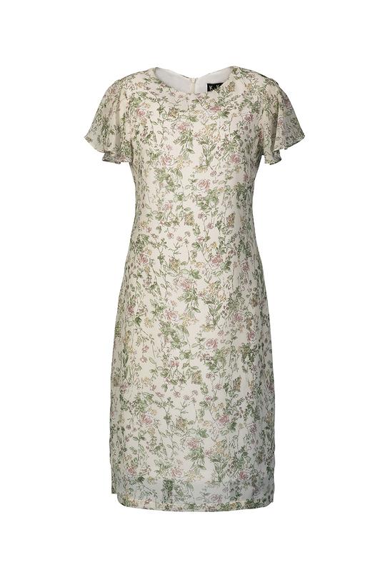Đầm suông họa tiết hoa nhí