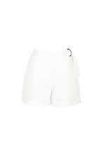 Quần shorts phối đai eo