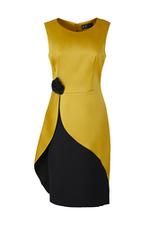 Đầm đi tiệc màu vàng đính hoa sang trọng