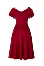 Đầm xòe cổ vuông tay phồng