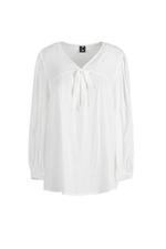 Áo babydoll trắng cột nơ