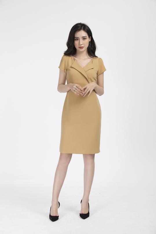Đầm ôm nhẹ cổ đan tông KK88-07