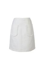 Chân váy trắng dáng chữ A 2 túi