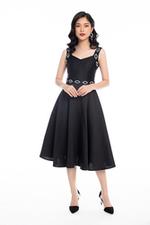Đầm dự tiệc 2 dây màu đen