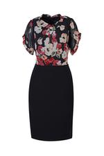 Đầm ôm body họa tiết hoa tay ngắn