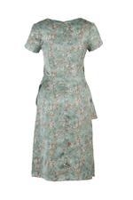 Đầm peplum họa tiết hoa nhí