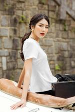 Áo kiểu nữ đẹp màu trắng tay ngắn