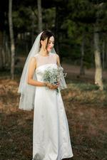 Đầm dự tiệc cưới phối ren lưới dáng dài