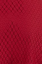 Đầm đỏ dáng xòe tùng váy viền bèo