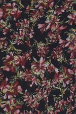 Đầm liền phối họa tiết hoa cổ sen