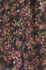 Đầm voan hoa nhấn eo tay lỡ