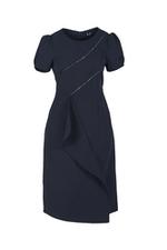 Đầm chữ A đơn sắc tùng váy cách điệu