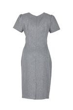 Đầm đơn sắc dáng ôm viền bèo