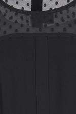 Đầm đen dáng xòe phối voan cóc