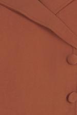 Đầm chữ A cổ đan tông phối nút