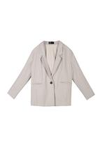 Áo khoác blazer màu kem