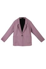 Áo khoác blazer tím phối hai túi nổi