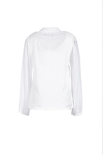 Áo blouse trắng tay dài cổ phối nơ