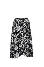 Chân váy quấn in họa tiết đính nơ