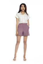 Quần short nữ màu tím có túi