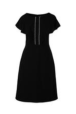 Đầm đen chữ A sát nách phối đăng-ten