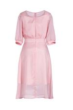 Đầm tơ ánh kim dáng xòe tay lỡ