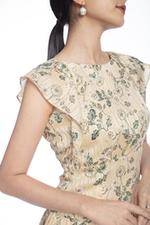 Đầm hoa dáng chữ A cut out sau lưng