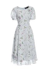 Đầm hoa dáng xòe tay ngắn