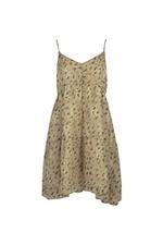 Đầm babydoll hai dây họa tiết hoa